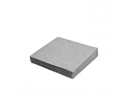 Ubrousky 2-vrstvé 33×33cm šedé