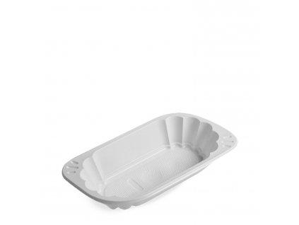 Miska oválná bílá (PS) 250ml