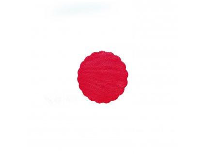 Rozetky PREMIUM Ø 9 cm červené