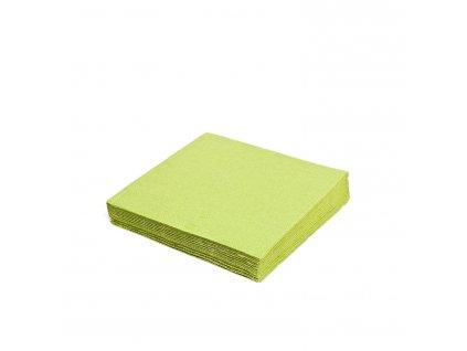 Ubrousky 2-vrstvé 33×33cm žlutozelené