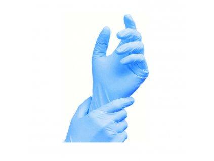 Rukavice nitrilové modré, nepudrované M