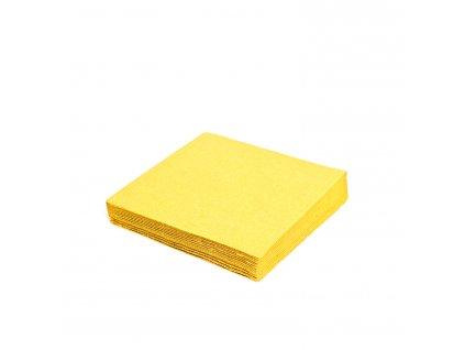 Ubrousky 2 vrst. 33×33cm žluté