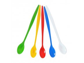 Koktejlová lžička barevná mix 21 cm