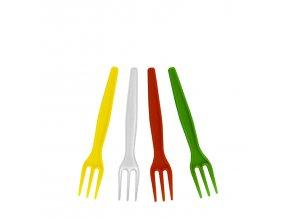 Vidlička na hranolky barevná mix 8,5 cm