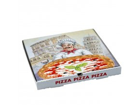 Krabice na pizzu z vlnité lepenky 33×33×3cm