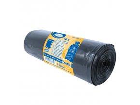 240l Pytle na odpadky černé 100×125cm
