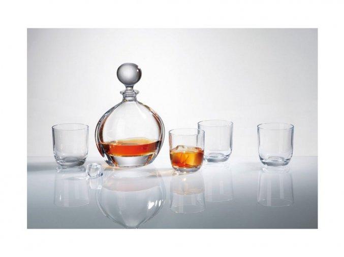 Sada na whisky 1 karafa + 6 sklenic ORBIT Crystalite Bohemia