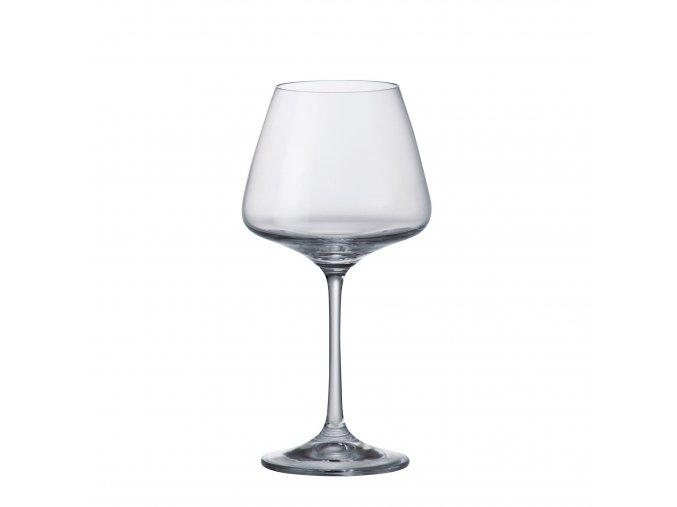 Sada 6 kusů sklenic na bílé víno CORVUS 350ml Crystalite Bohemia