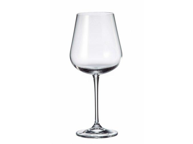 Sada 6 kusů sklenic na červené víno  ARDEA, 570ml Crystalite Bohemia