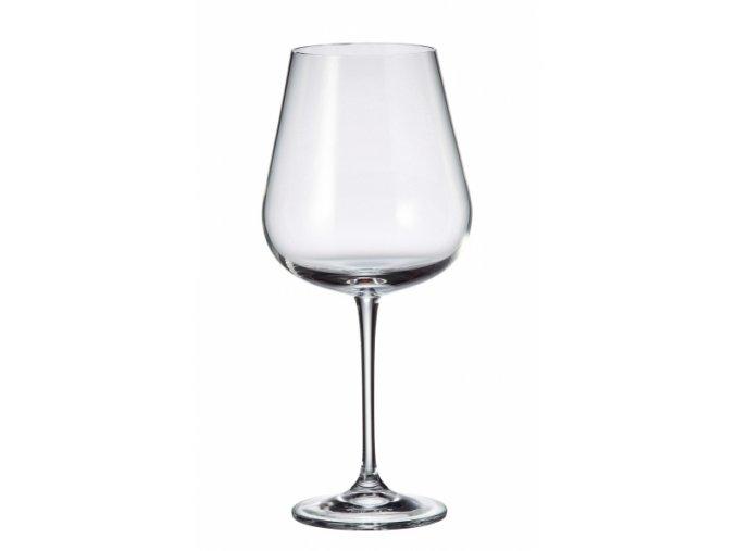 Sada 6 kusů sklenic na červené víno  ARDEA, 690ml Crystalite Bohemia