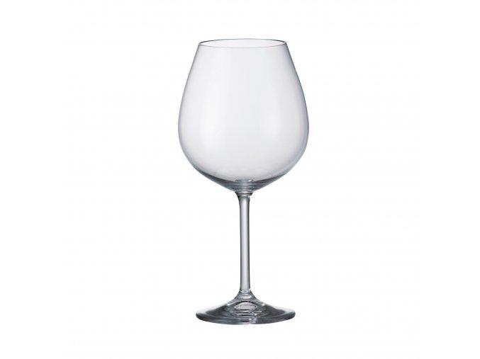 Sada 6 kusů sklenic na červené víno  COLIBRI 650ml Crystalite Bohemia