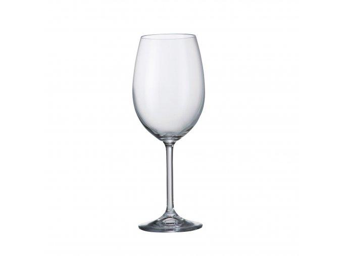 Sada 6 kusů sklenic na červené víno  COLIBRI 450ml Crystalite Bohemia