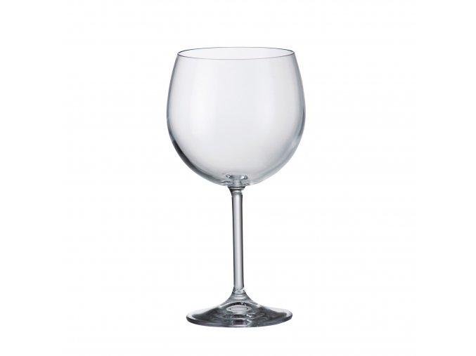 Sada 6 kusů sklenic na červené víno  COLIBRI 570ml Crystalite Bohemia