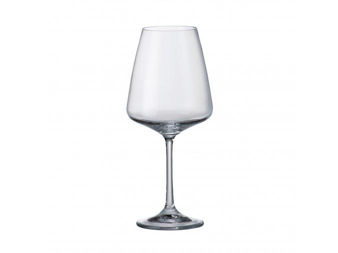Sada 6 kusů sklenic na červené víno CORVUS 450ml Crystalite Bohemia