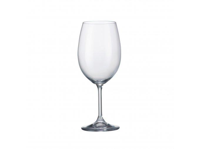Sada 6 kusů sklenic na červené víno SYLVIA 450ml Crystalite Bohemia
