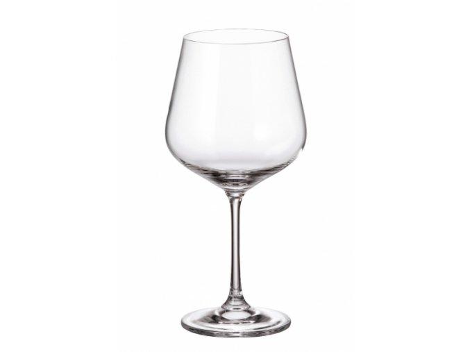 Sada 6 kusů sklenic na červené víno STRIX 600ml Crystalite Bohemia