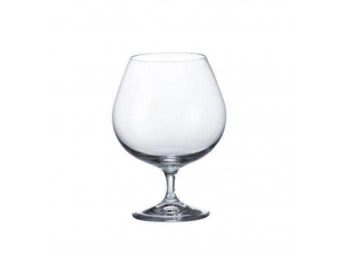 Sada 6 kusů sklenic na koňak COLIBRI 690ml Crystalite Bohemia