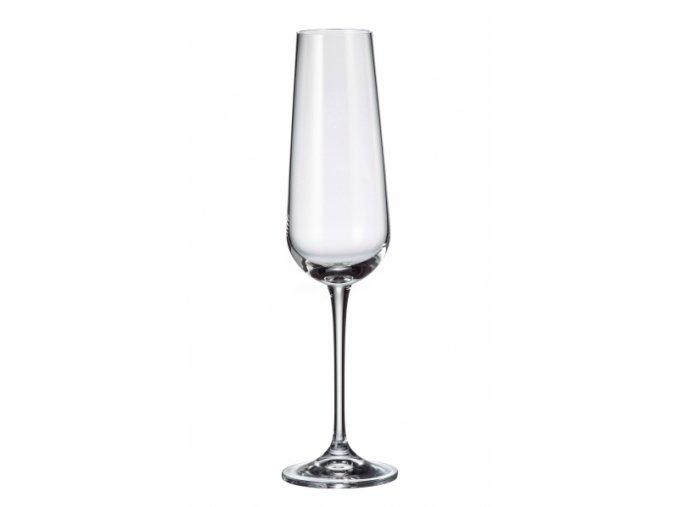 Sada 6 kusů sklenic na šampaňské ARDEA 220ml Crystalite Bohemia