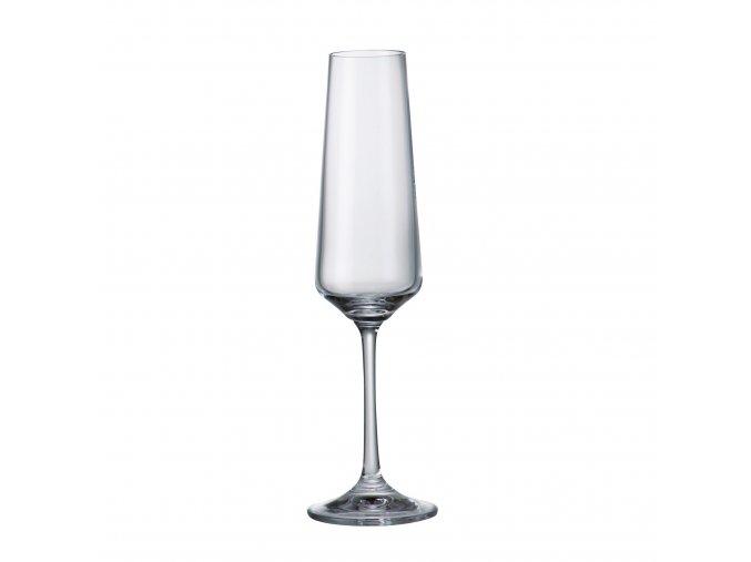 Crystalite Bohemia Sklenice na šampaňské CORVUS, 160ml, 6 Kusů