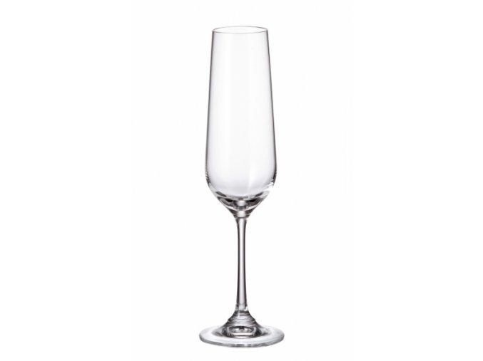 Sada 6 kusů sklenic na šampaňské STRIX 200ml Crystalite Bohemia