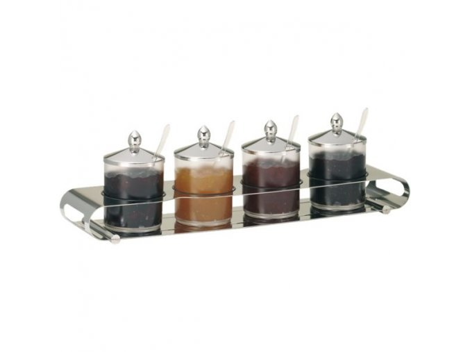 Frilich Elegance Servírovací Tác Podnos bar marmeláda 4 nádoby