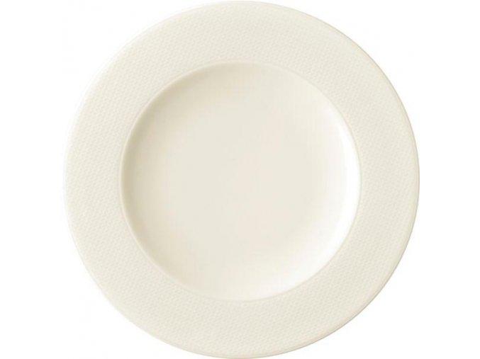 Seltmann Diamant Mělký talíř 22,5 cm, krémovobílý, 6 Kusů