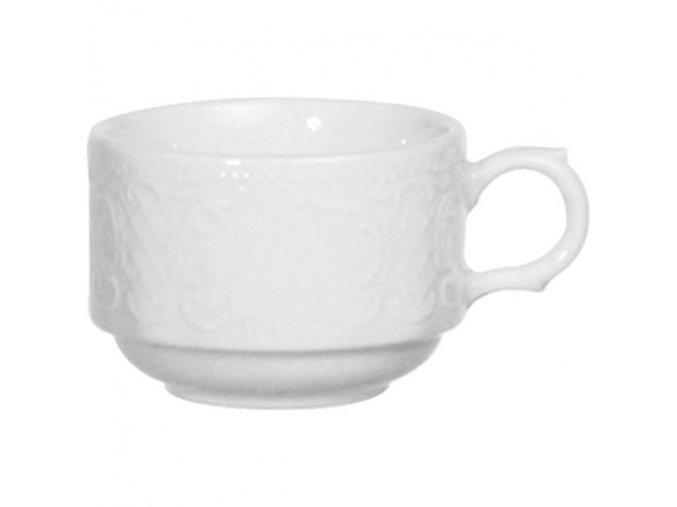 Seltmann Salzburg Šálek na kávu 0,18 l, stohovatelný, vhodné doplnit podšálkem č. 221168203, 6 Kusů