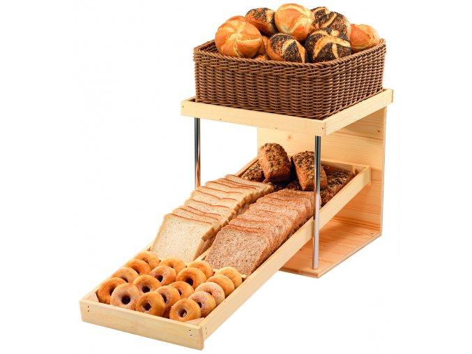 Podstavec na pečivo RAISER Wood, koš na pečivo 3KO020, 3KO021