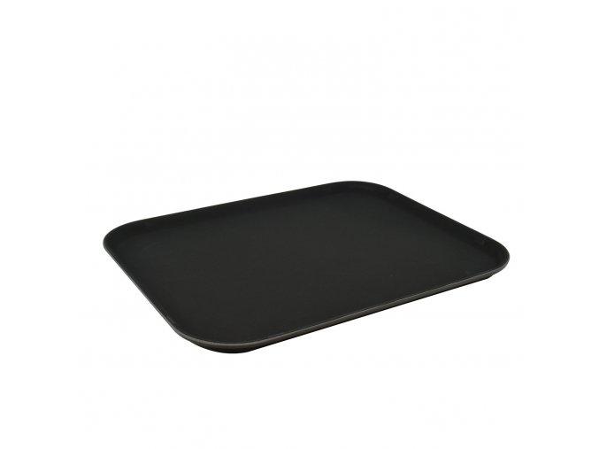 Servírovací Podnos s protiskluzovým povrchem 56x40cm černý