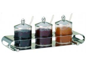 Frilich Elegance Servírovací Tác NEREZ Podnos bar marmeláda 3 nádoby