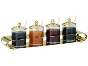 Frilich Elegance Servírovací Tác Podnos Gold bar marmeláda 4 nádoby