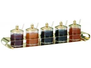 Frilich Elegance Servírovací Tác Podnos Gold bar marmeláda 5 nádoby