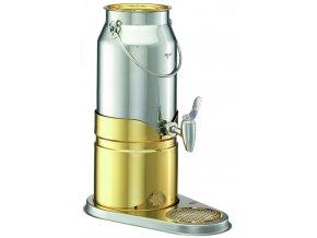 Frilich Elegance výdejník dávkovač na nápoje mléko 5 l nerez výtokový ventil pro bufet párty snídaně Gold
