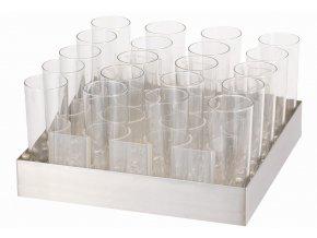 Nápojový set RAISER 20ks sklenice, s vložkou na LED podstavec 5ST050,5ST049
