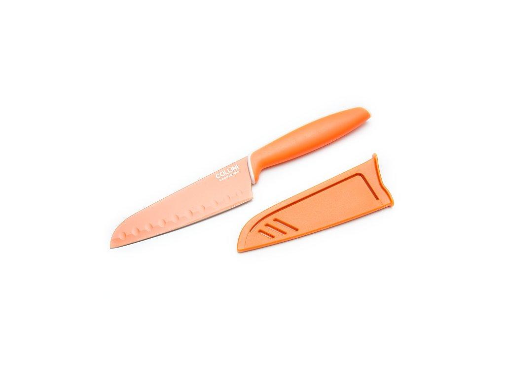 Berndorf Sandrik Teflónový nôž Santoku oranžový