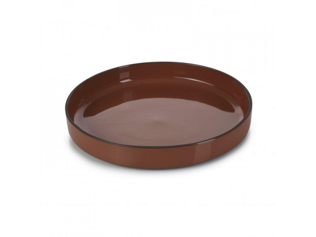 Talíř gourmet kulatý 23 cm - tonka