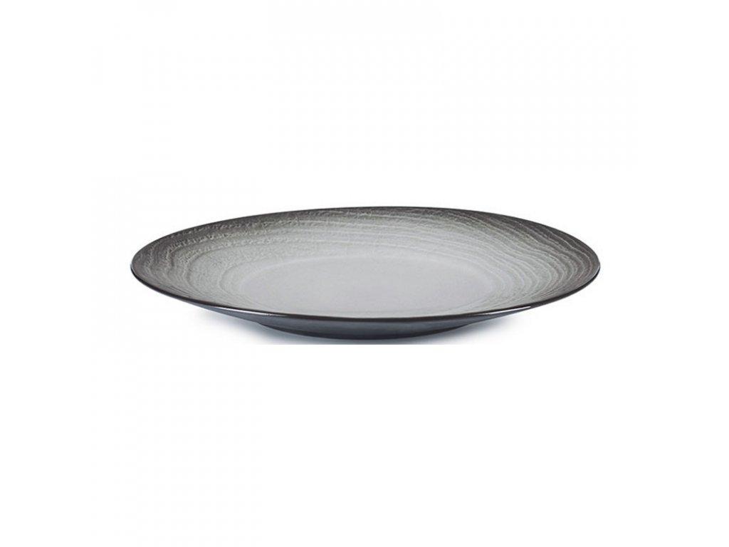 Talíř 31 cm - černý písek