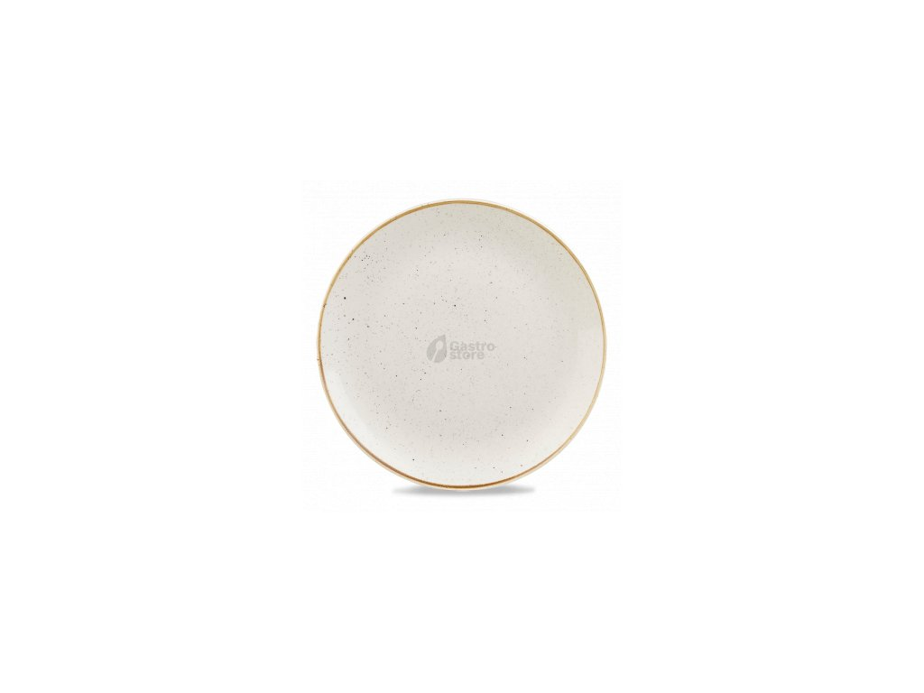 CHURCHILL, Stonecast Barley White 32,4 cm Bílý mělký talíř, ručně zdobený