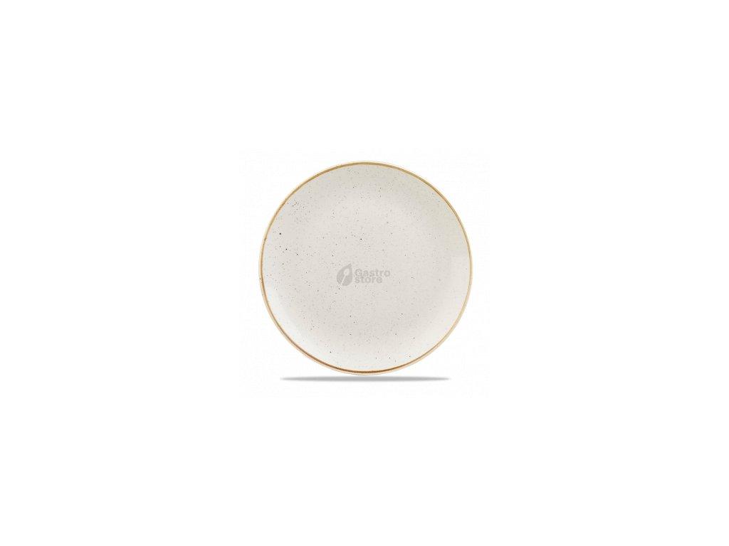 CHURCHILL, Stonecast Barley White 28,8 cm Bílý mělký talíř, ručně zdobený