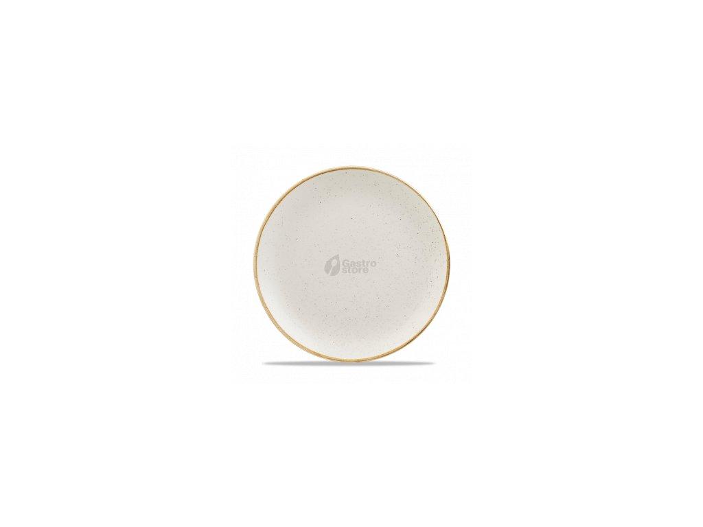 CHURCHILL, Stonecast Barley White 26 cm Bílý mělký talíř, ručně zdobený