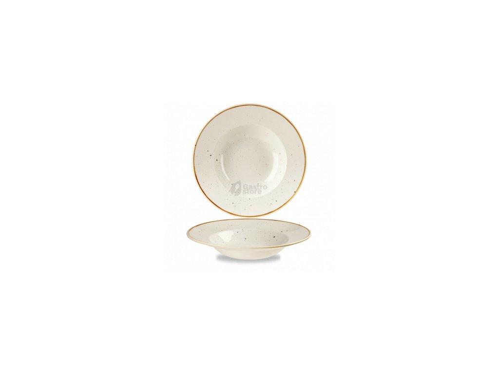CHURCHILL Stonecast - Barley white 28 cm Talíř hluboký s širokým okrajem