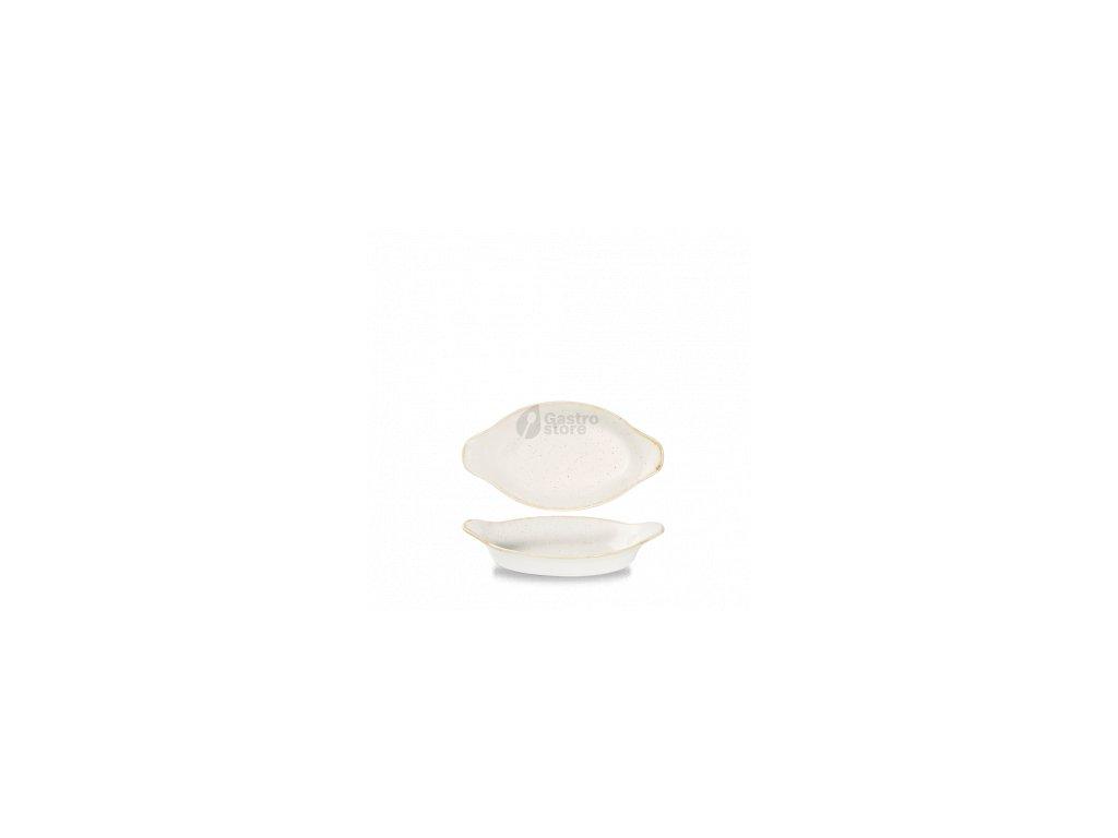 CHURCHILL Stonecast - Barley white Zapékací mísa oválná 20,5 x 11,3 x 4 cm