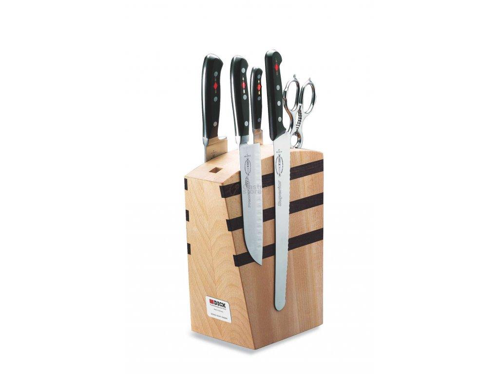 F. Dick Magnetický blok/stojan na nože s příslušenstvím Premier Plus, dřevěný