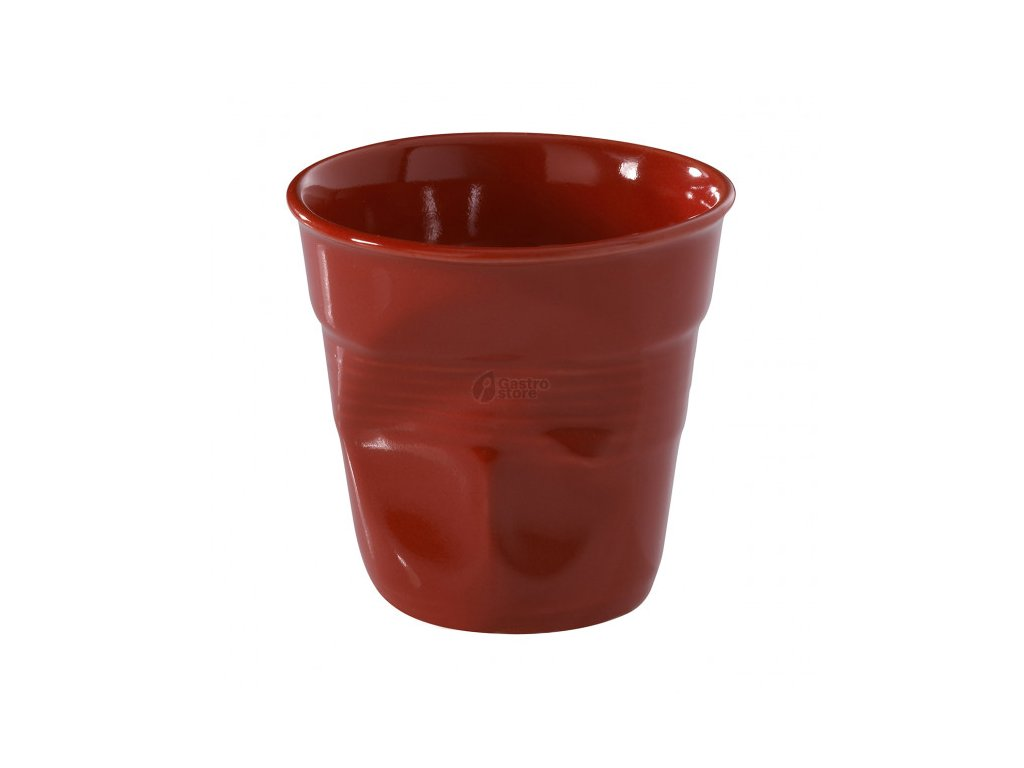 red crumpled cups