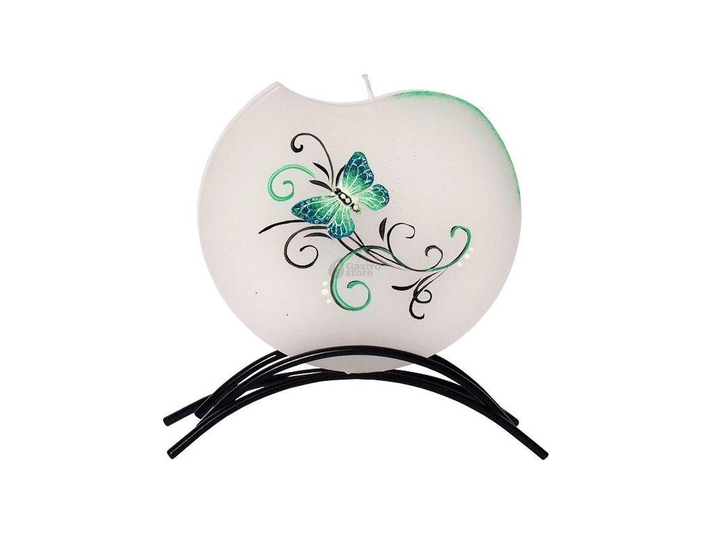 Belle Candles Motýl vlna - plochá svíčka