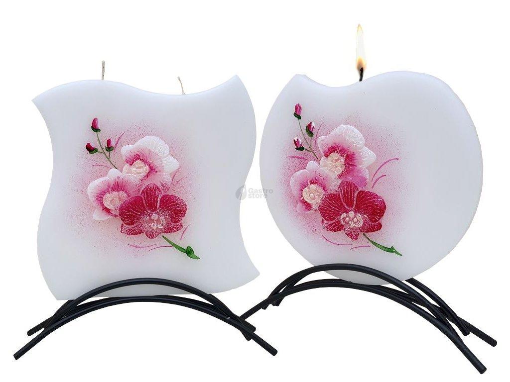 Belle Candles Orchidej - plochá svíčka