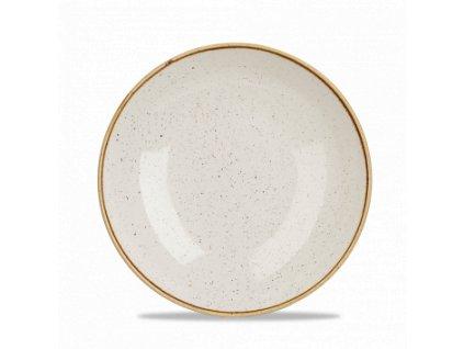 CHURCHILL Stonecast - Barley white 24,8 cm Mísa coupe, ručně zdobená