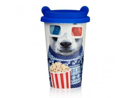 Mustard Porcelánový cestovní hrnek panda 0,35l