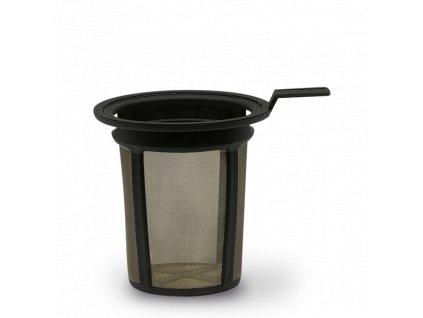 Fine Dining Teefilter schwarz mit Clipphalter