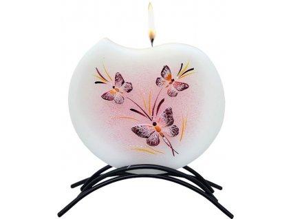 Belle Candles Motýli - plochá svíčka